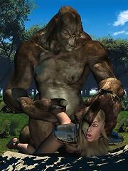 Girl rides Toon Devil as gets slammed