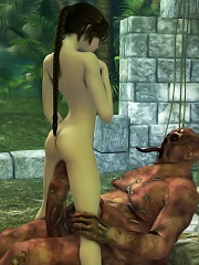 3D Peasant girl gets fucked hard in her snatch