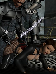 Nympho 3D mistress gets toyed with by 3D partner